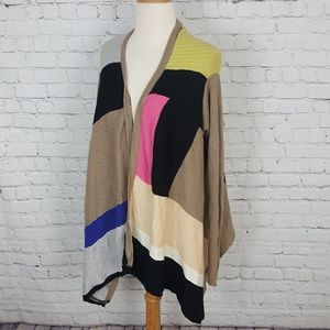 Anthropologie Sweaters - Sparrow Colorblock Cardigan Sweater M Shawl Wrap